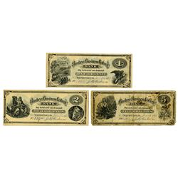 Buckeye Business College, Sandusky, Ohio, 1873-74 College Currency Trio.