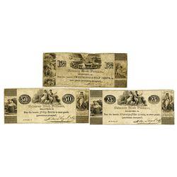Chimney Rock Furnace, ND ca.1830-40's, Obsolete Scrip Note Trio.