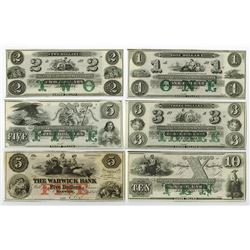 New-England Commercial Bank, ca.1820's Obsolete Banknote Assortment.
