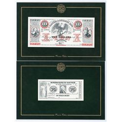 American Bank Note Company Premiere Obsolete Banknote Edition with 23 Obsolete Notes Partially Compl