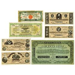 Advertising, Scrip and Depression Scrip From Various Issuers, 1920-1933, Group of 7 Issued Scrip Not