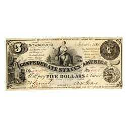C.S.A., 1861, Issued Note