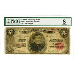 U.S. Legal Tender, $5, Series of 1890 Issue.