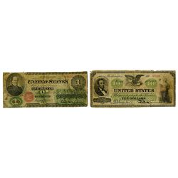 U.S. Legal Tender, 1862 Dated Banknote Pair.