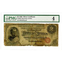 U.S. Silver Certificate, $2, Series 1886, Fr#240.