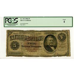 U.S. Silver Certificate, $5, Series 1886, Fr#263.