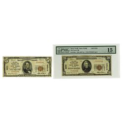 National Banknotes, 1929, Pair of Issued Notes