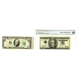 Federal Reserve Note, 1985-1996, Pair of Error Notes
