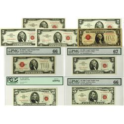 Legal Tender Note, 1928-1963, Lot of 9 Notes