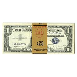 Silver Certificate, 1957, Pack of 25 Uncirculated Notes