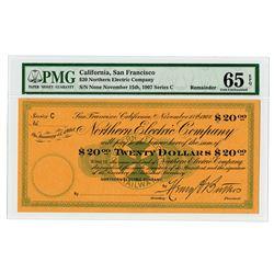 Northern Electric Railway - Northern Electric Company Specimen 1907 Panic Scrip