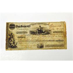 Page, Bacon & Co. Check 1852