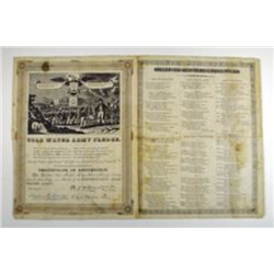 Cold Water Army Pledge and Song Sheet, ca. 1840-60's.