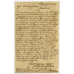 Early Stampless letter, 1767 from Philadelphia to Madeira with Interesting Content.