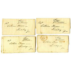 Free Frank Stampless Covers ca. 1824, Signed by Congressman George Kremer (1824-27 member of Congres