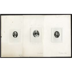 Portraits of three Gentlemen, including Don Leon Sola Proof Portraits. All engraved and signed by G.