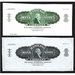 Hamilton Bank Note Co. Letterhead top proof.