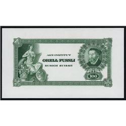Switzerland - Art Institut  Orell Fussli  Advertising Banknote.