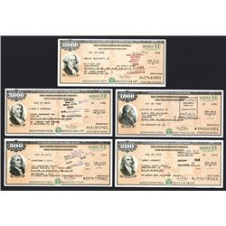 U.S. Savings Bond, Series EE ca. 1989-1996 Bond Assortment.