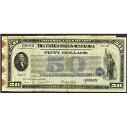 First Liberty Loan Bond of 1917. Issue of June 15, 1917