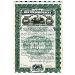 Harper & Brothers, 1906 Specimen Bond