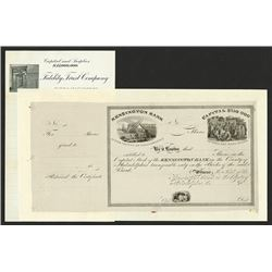 Kensington Bank, ca.1833 Proof Stock Certificate.