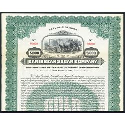 Caribbean Sugar Co., 1926, Specimen Bond.