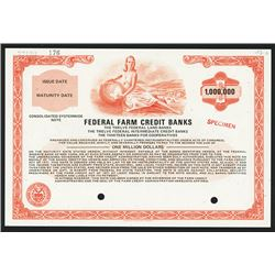 Federal Farm Credit Banks Specimen Bond.