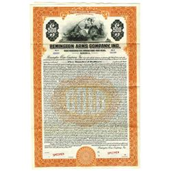 Remington Arms Co., Inc., 1922 Specimen Bond