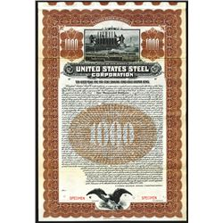 United States Steel Corp., 1903, $1000 Specimen Bond.