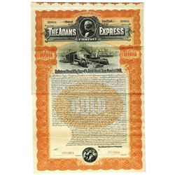 Adams Express Co., 1898 Specimen Bond