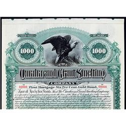 Omaha and Grant Smelting Co. 1892 Specimen Bond.
