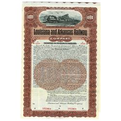 Louisiana and Arkansas Railway Co., 1902, Specimen Bond.