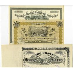 Railroad and Mining Trio, Colorado ca.1880-1890's.