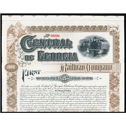 Central of Georgia Railway Company Specimen Bond.