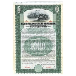 New Orleans Great Northern Railroad Co. 1905. Specimen Bond.