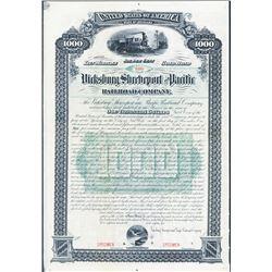 Vicksburg, Shreveport and Pacific Railroad Co. Specimen Bond.