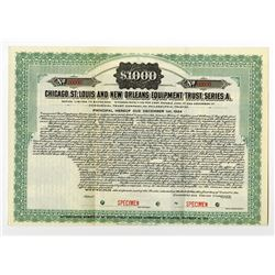 Chicago, St. Louis and New Orleans Equipment Trust, 1914 Specimen Bond