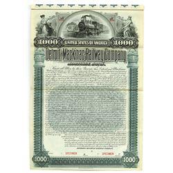 Detroit and Mackinac Railway Co., 1895 Specimen Bond