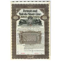 Detroit and Toledo Shore Line Railroad Co., 1899 Specimen Bond