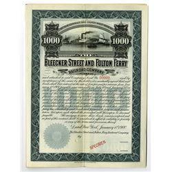 Bleecker Street and Fulton Ferry Railroad Co., 1900 Specimen Bond