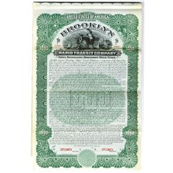 Brooklyn Rapid Transit Co., 1902 Specimen Bond
