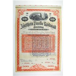 Northern Pacific Railroad Co. 1883 Specimen Bond.