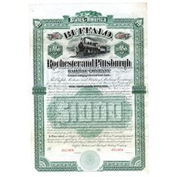 Buffalo, Rochester and Pittsburgh Railway Co., 1887 Specimen Bond