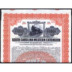 South Carolina Western Extension Railway Specimen Bond.
