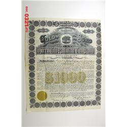 Queen City Railway Co. 1893 Issued Bond