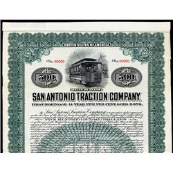 San Antonio Traction Co. Specimen Bond.