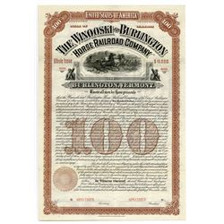 Winooski and Burlington Horse Railroad Co., Specimen Bond.