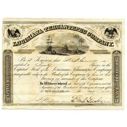 Louisiana Tehuantepec Company, 1857 Issued Stock Certificate.