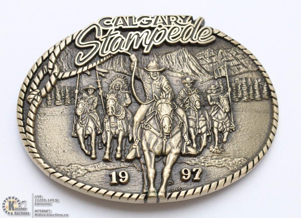 Calgary Stampede Solid Brass Ltd Ed Belt Buckle